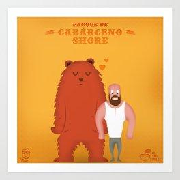 Cabárceno Shore (Chueca) Art Print