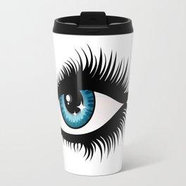 Blue fem eye Travel Mug