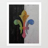 fleur de lis Art Prints featuring Fleur de Lis by Michael Creese