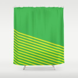 Gren&Yellow Diagonals Shower Curtain