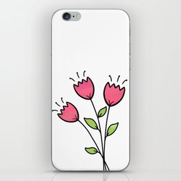 Pretty and Whimsical Pink Tulips iPhone Skin