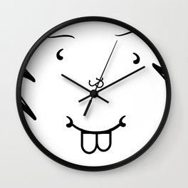 Type Face Wall Clock