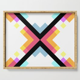 Abstract Retro Pattern 05 Serving Tray