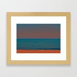 Brick beach Framed Art Print