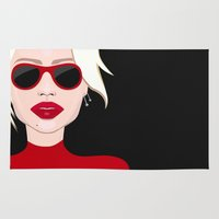 blondie Area & Throw Rugs featuring Blondie by VictoriaPodi