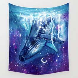 Passage to the Dream Realm - Space Whale Wall Tapestry
