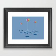 Whale Riders! Framed Art Print