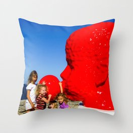 Sydney Scuptures By The Sea Throw Pillow