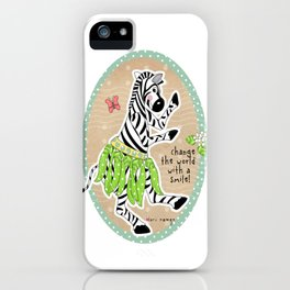 Change the World with a Smile iPhone Case