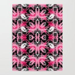 Black Pink Tribal Pattern Poster