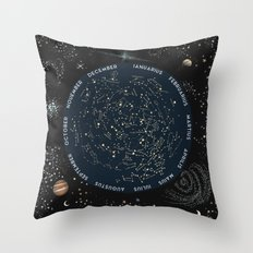 Come with me to see the stars Throw Pillow