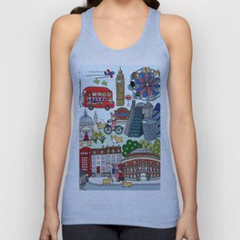 The Queen's London Day Out Unisex Tank Top