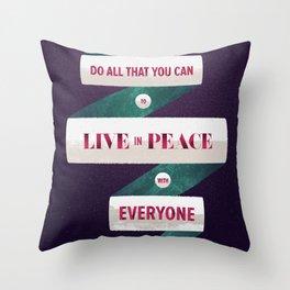Romans 12:18 Throw Pillow