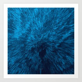 Bold Burst in Blue Art Print
