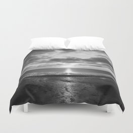 Sunset in Cape Cod Duvet Cover