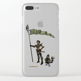Tracy Queen and Nikola Clear iPhone Case