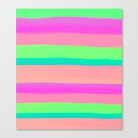 rave Canvas Prints featuring SUMMER'S RAVE by Rebecca Allen