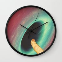 thrones Wall Clocks featuring Black holes and revelations by Laura Nadeszhda