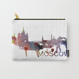 Moscow Skyline Watercolor Art Print Carry-All Pouch