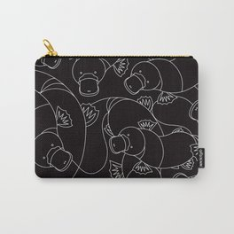 Minimalist Platypus Black and White Carry-All Pouch