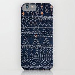 N53 - Blue Indigo Oriental Antique Traditional Moroccan Style Artwork iPhone Case