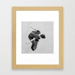 Skateboarder - Kickflip from above Framed Art Print