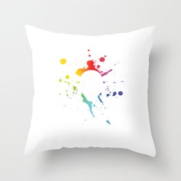 Paintball Helmet Paintball Player Marker Gift Throw Pillow