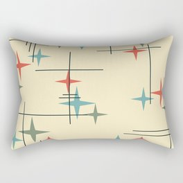 Mid Century Modern Stars Colorful 1 Rectangular Pillow