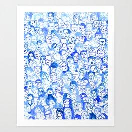 Blue velvet Art Print