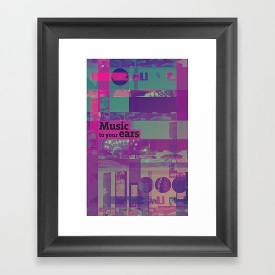 Music To Your Ears (ANALOG zine) Framed Art Print
