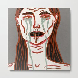 Anorexia Metal Print