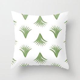 Pandanus Leaf Pattern - Green Throw Pillow