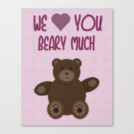 We Beary Love Canvas Print