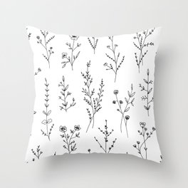 New Wildflowers Throw Pillow