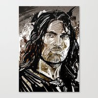 aragorn Canvas Prints featuring Aragorn by Patrick Scullin