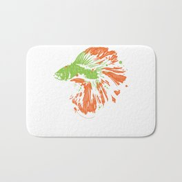 Betta Splendens Shirt Cute Bettas Siamese Fighting Fish Gift Bath Mat