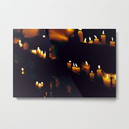 Temple Candles Metal Print