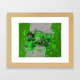 Greeny Fun Framed Art Print