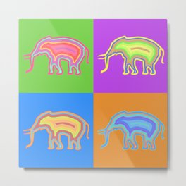 Elephants (Pop Art & Pattern) Metal Print
