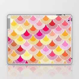 Bohemian Fish-scale Pattern - Hues of Warm Gold and Pink Laptop & iPad Skin