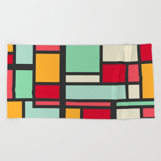 Mondrian Beach Towel