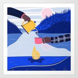 Camping Trip Art Print