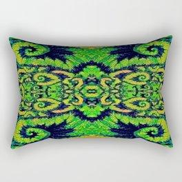 Lush Green Snail Leaf Abstract Rectangular Pillow