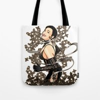 gothic Tote Bags featuring Gothic by Benimarudo