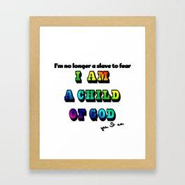 I am a Child of God-Style 2 Graphic Design Framed Art Print