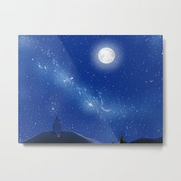 Eeyore-A Lonely Night Metal Print