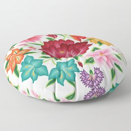 Mexican Floral Bouquet Floor Pillow
