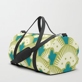 Fan Pattern Chartreuse Duffle Bag