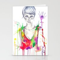 acid Stationery Cards featuring acid by Lua Fraga