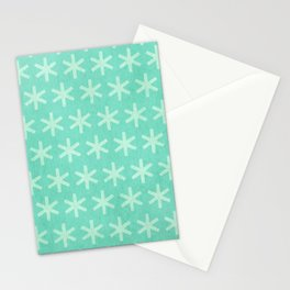 Asterisk Small - Turquoise Stationery Cards